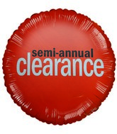 "18"" Semi-Annual Clearance Orange Sale Balloon"