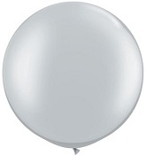 "30""  Qualatex Latex Balloons  SILVER   02CT"