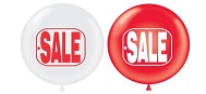 "17"" Sale Tag (Red & White)"