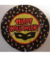 "9"" Airfill Happy Halloween Mask Balloon"