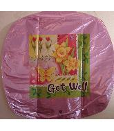 "18"" Get Well Tulips & Butterflies U0198"