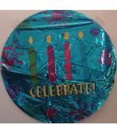 "18"" Celebrate! Blue Candles"