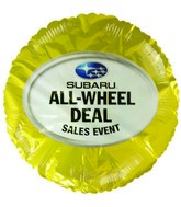 "18"" Subaru All-Wheel Deal Sale Gold Mylar Balloon"