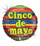 "18"" Holographic Cinco De Mayo Balloon"