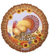 "18"" Happy Thanksgiving Turkey Wicker Border"
