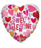 "18"" My Sweet Valentine Foil Balloon"