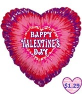 "36"" Tie Die Happy Valentine&#39s Day"