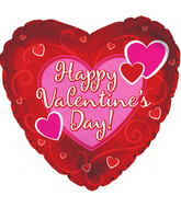 "31"" Happy Valentine&#39s Day Balloon Bold Hearts"