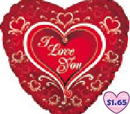 "31"" I Love You Elegant Mylar Balloon"
