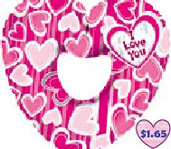 "31"" I Love You Pink Hearts"