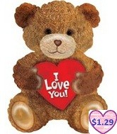 "22"" I Love You Jumbo Bear Balloon"