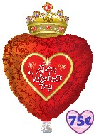 "30"" HVD Heart With Crown Shape"