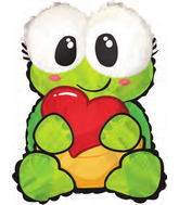 "22"" Turtle Heart Shape-A-Loon Balloon"