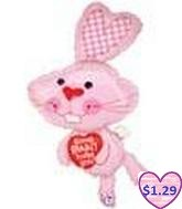 "46"" Bunny Love Shape (Slightly Damaged Balloon)"