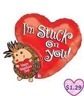 "32"" I&#39m Stuck You Hedgehog Valentine&#39s Day"