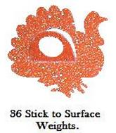 36 Sitck to Anything Sticker Weights Turkey