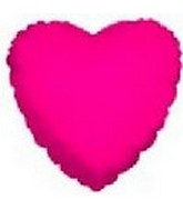 "18"" Fuschia Heart"