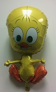 "30""  Yellow Bird Full Body Balloon"